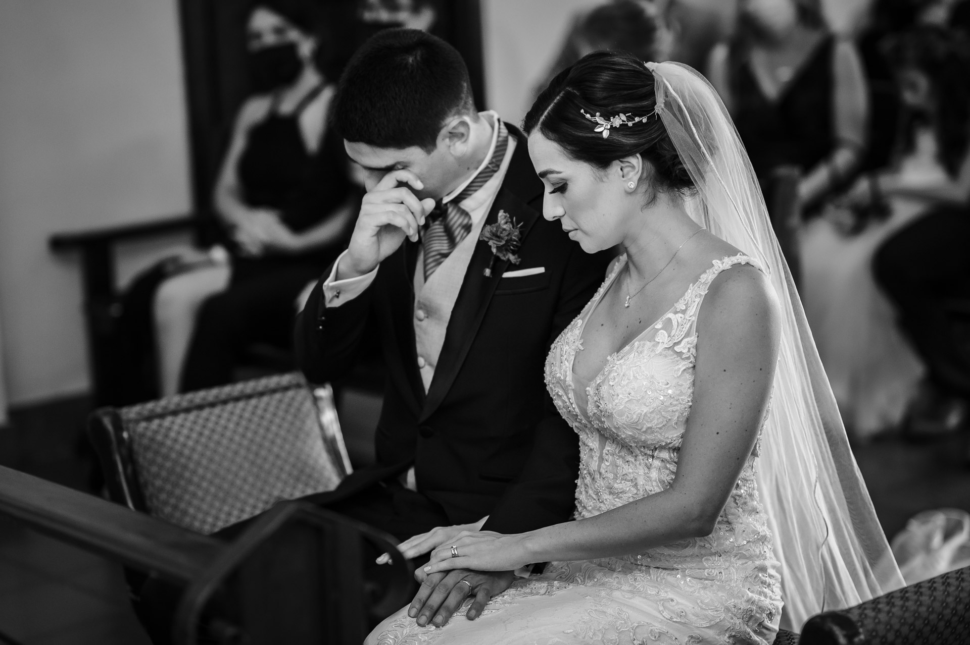 Destination Wedding Photographer Based in Costa Rica | The groom went in tears while hearing the artist playing