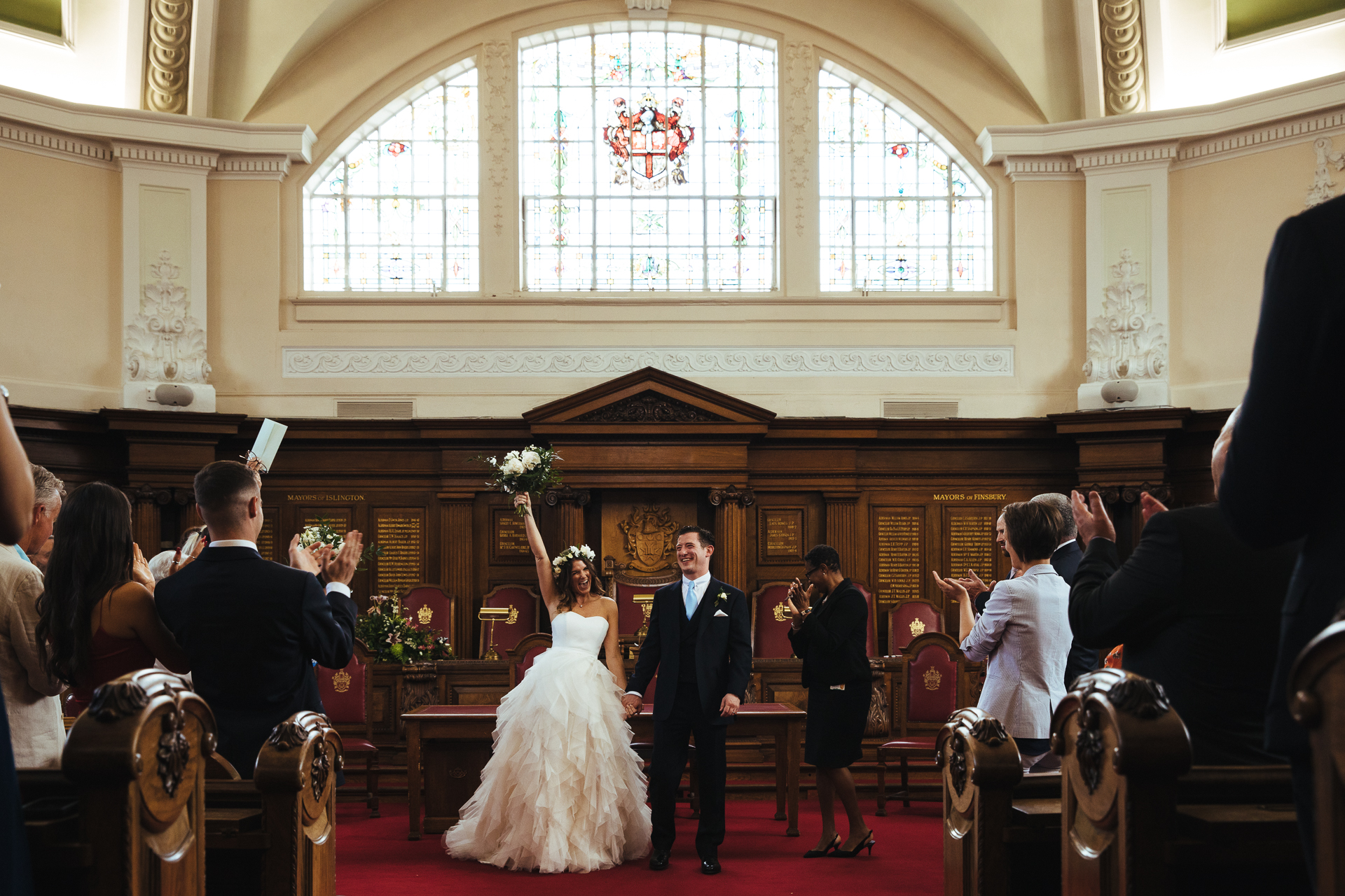 Lyndsey Goddard, of London, is a wedding photographer for Islington Town Hall