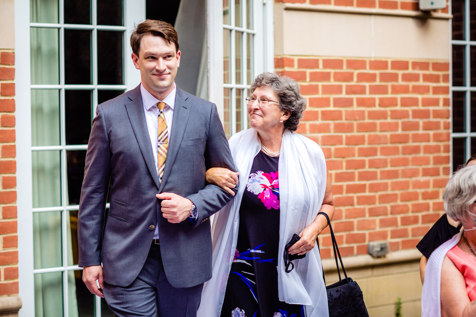 Outdoor Elopement Photos from Virginia | The groom enters and begins walking down the aisle